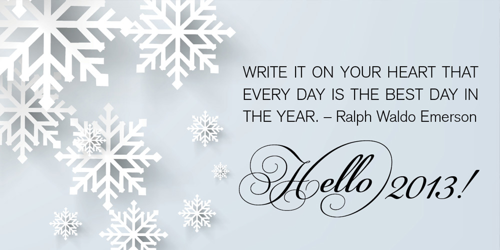 Happy New Year! Bring on 2013…